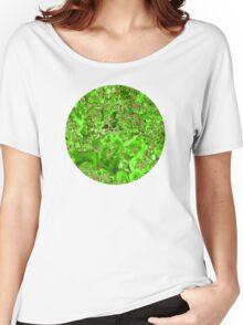 Marble Emerald Green Ruby Red Women's Relaxed Fit T-Shirt