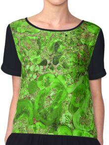 Marble Emerald Green Ruby Red Chiffon Top