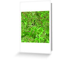 Marble Emerald Green Ruby Red Greeting Card