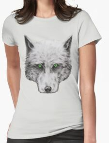 Green Eyed Wolf Womens Fitted T-Shirt