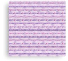 Pink and Purple Watercolor Tie Dye Stripes Canvas Print