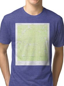 USGS TOPO Map Arkansas AR Wesson 259842 1971 24000 Tri-blend T-Shirt