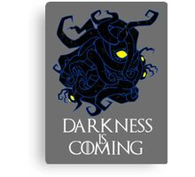 Darkness is Coming Canvas Print