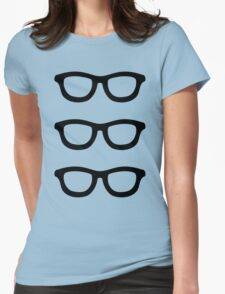 Smart Glasses Pattern Womens Fitted T-Shirt
