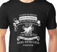 Animal rescue T-shirt - The title dog rescuer Unisex T-Shirt