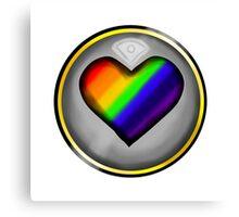 LGBTQ+ Heart Canvas Print