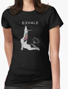Unicorn - Exhale Womens Fitted T-Shirt