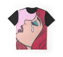 Red Bangs Crying Comic Girl Graphic T-Shirt