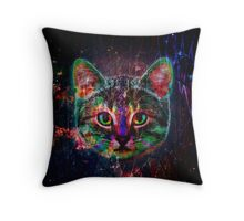 Planet Cat Throw Pillow