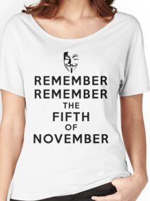 Remember Remember... Women's Relaxed Fit T-Shirt