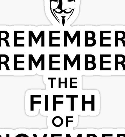 Remember Remember... Sticker