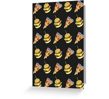 FAST FOOD LOVE Greeting Card