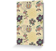 Floral Stamps Greeting Card