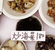 seafood at market Sticker