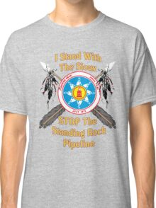 Standing Rock Crossed Arrows - Stop The Pipeline Classic T-Shirt