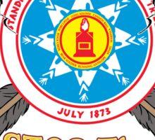 Standing Rock Crossed Arrows - Stop The Pipeline Sticker