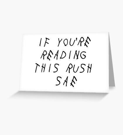 Rush SAE Greeting Card