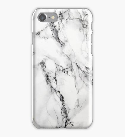 black and white marble texture iPhone Case/Skin