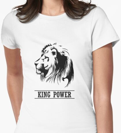 Lion Head,king power,  Womens Fitted T-Shirt