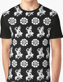 Apsara dancer and flowers  Graphic T-Shirt