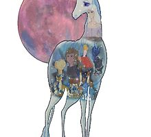 The Last Unicorn & Characters by MissDucklette
