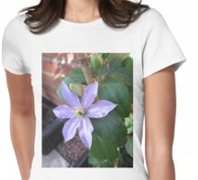 New Blue Clematis Blossom Womens Fitted T-Shirt