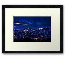 Sunrise over Barcelona, Spain  Framed Print