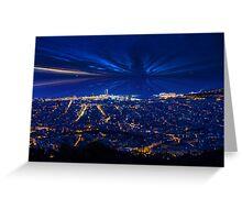 Sunrise over Barcelona, Spain  Greeting Card