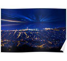 Sunrise over Barcelona, Spain  Poster
