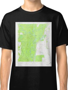 USGS TOPO Map Arkansas AR Indian Bay SE 258806 1967 24000 Classic T-Shirt