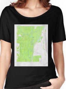 USGS TOPO Map Arkansas AR Indian Bay SE 258806 1967 24000 Women's Relaxed Fit T-Shirt