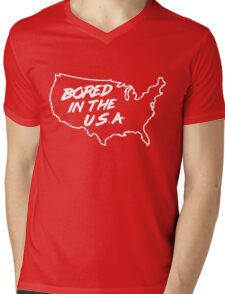 Bored in the U.S.A. Mens V-Neck T-Shirt