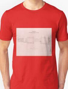0747 Theben Thebes Grundriss des Tempels von Luqsor Luxor Unisex T-Shirt