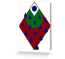 Raining down christmas mountian  Greeting Card
