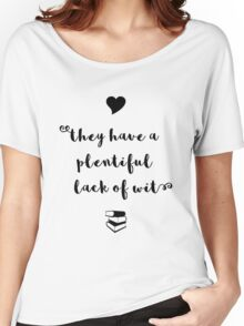 """""""A plentiful lack of wit"""" Shakespeare insult (black) Women's Relaxed Fit T-Shirt"""