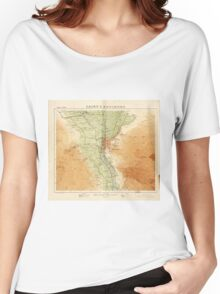 Cairo & Environs, Map of Egypt (1925) Women's Relaxed Fit T-Shirt