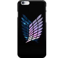 Wings of Space || Survey Corps logo iPhone Case/Skin