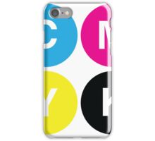 CMYK Stops iPhone Case/Skin