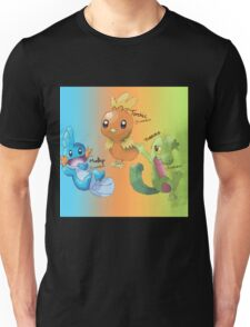 Mudkip, Torchic and Treecko Unisex T-Shirt