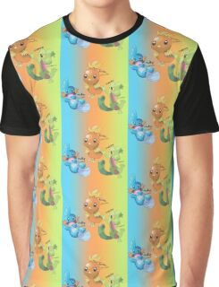 Mudkip, Torchic and Treecko Graphic T-Shirt
