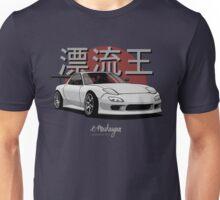 Drifting King RX7 (white / gray) Unisex T-Shirt