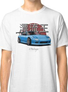 Drifting King RX7 (blue) Classic T-Shirt