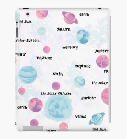 Pastel Planets iPad Case/Skin
