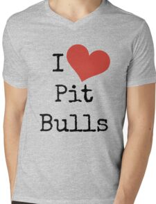 I Love Pit Bulls! Mens V-Neck T-Shirt