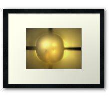 Beige Gold Marble Framed Print
