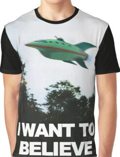 I Want To Believe - Futurama Graphic T-Shirt