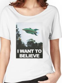 I Want To Believe - Futurama Women's Relaxed Fit T-Shirt