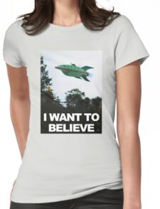 I Want To Believe - Futurama Womens Fitted T-Shirt