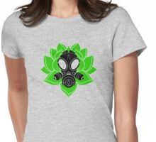 Lotus and Mask Womens Fitted T-Shirt
