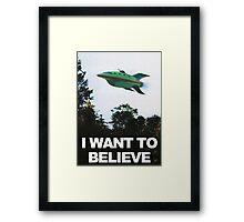 I Want To Believe - Futurama Framed Print